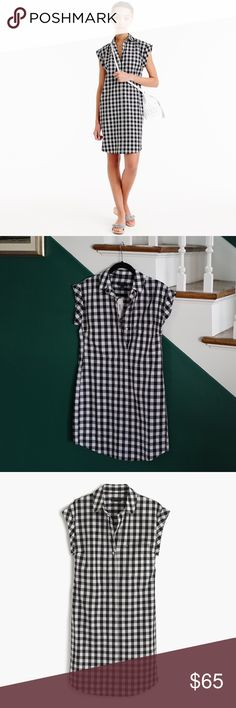 SALE J. Crew Gingham Shirtdress NEW & Sold Out This dress is one of my favorite pieces but I needed an XS and got a petite extra-small. It's brand-new with tags and totally adorable.   J. Crew's description: A classic shirtdress made from crisp cotton in our favorite pattern of the season: gingham. We gave it a straight body-skimming fit with a curved hem and rolled sleeves, so it's the perfect combination of flattering, feminine and timeless. This is how you do polished and easy in 60…