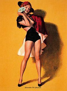 Marilyn Monroe illustration by Earl Moran c. 1946