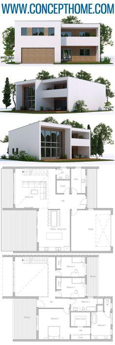 Architecture House Plan, Home Plans, Casa Moderna Ranch House Plans, Dream House Plans, Modern House Plans, Small House Plans, Modern House Design, Villa Design, Design Design, Modern Architecture House, Architecture Plan