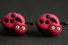 New to StumblingOnSainthood on Etsy: Bug Earrings. Red Ladybug Button Earrings. Bug Jewelry. Stud Earrings. Red Earrings. Post Earrings. Ladybug Earrings. Handmade Earrings. (14.00 USD)