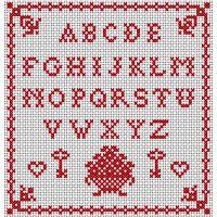 ABC Sampler - Free cross-stitch pattern