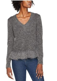 df51710af1af8a SELECTED FEMME Sffinta LS V-Neck Knit, Felpa Donna: Amazon.it: Abbigliamento
