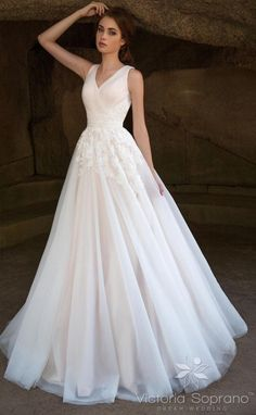 Featured Dress: Victoria Soprano; Wedding dress idea. #weddingdress
