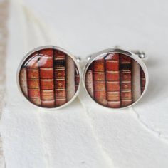 Antique Style Book Cufflinks