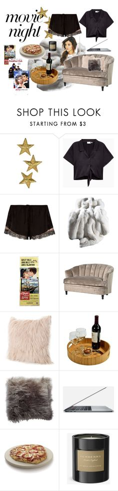 """""""movie night"""" by neesha-jivarajan ❤ liked on Polyvore featuring River Island, Picnic at Ascot, Thro, Crate and Barrel and Burberry"""