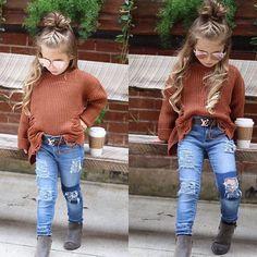 Moda the copii – Kids Fashion Rock - Children Clothes Cute Kids Fashion, Little Girl Fashion, Toddler Fashion, Fashion Children, Little Girl Style, Toddler Girl Style, Toddler Girl Outfits, Baby Outfits, Toddler Girls