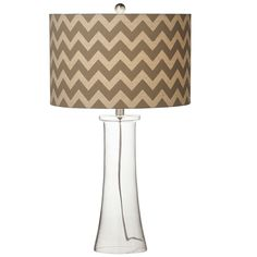 "Chevron 29"" H Table Lamp with Drum Shade (Set of 2)"