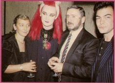 Boy George and his parents and Jon moss