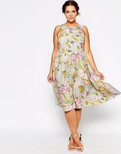 Plus SizeASOS CURVE Sundress In Vintage Look Floral