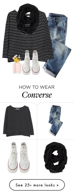 """""""Thursday {10-15-15} OOTD"""" by robramey17 on Polyvore featuring MANGO, Old Navy, Marc Jacobs and Converse"""