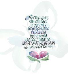 Best Mom~::~Judy Dodds, Penscriptions Calligraphy