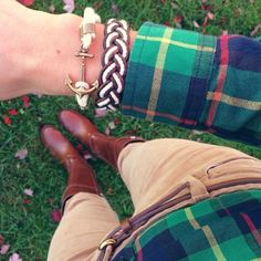 Congrats to this weeks #ShowYourRopes winner @Benna77 I am heart'n the tartan as I am mad for plaid.  Post a picture showing how you style your favorite Kiel James Patrick bracelet with the hashtag #ShowYourRopes for a chance to be featured on KJP's Instagram next week and win your bracelet of choice.  (at Kiel James Patrick Factory)