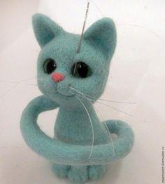 Валяем кошку Завитушку бирюзового цвета. Часть вторая (заключительная) - Ярмарка Мастеров - ручная работа, handmade