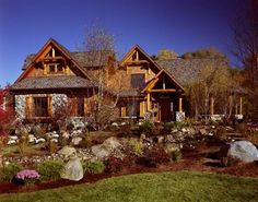Beautiful log home made from Michigan cedar products!