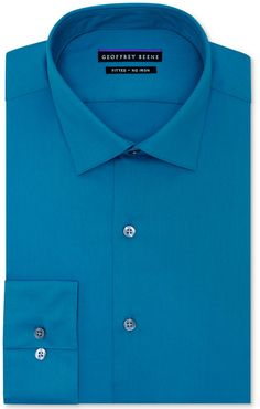 Geoffrey Beene Non-Iron Fitted Stretch Sateen Solid Dress Shirt on shopstyle.com