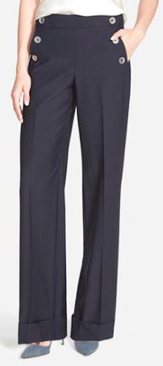 such cute wide leg cuffed pants