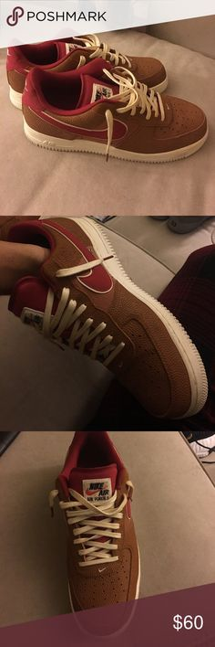 Special edition Nike Air Force 1 Shoes are made with  material like basketball or football leather. Nike Shoes Sneakers
