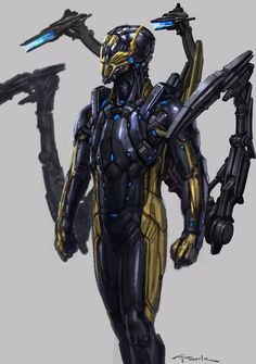 Yellow Jacket - Ant Man Concept Art by Andy Park