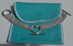 BRAND NEW Authentic TIFFANY & CO. Silver Multi Strand Heart Mesh Bracelet Bangle