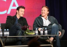 """jeromeifyouwantto: """" Flynn A Day, 23 August with Adam Rothenberg at the winter TCAs, 2013 ETA: okay, okay, you got the FAD a day early. I have a tired. """" Some things are just too good to keep under. Jerome Flynn, Crocodile Dundee, Langham Hotel, Ripper Street, Bbc America, Bronn, Blue Eyes, Acting, Tv Shows"""