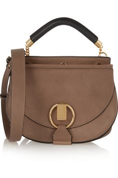 Chloé|Goldie small leather and suede shoulder bag(=)
