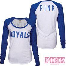64bcdd45c Kansas City Royals Victoria s Secret PINK  Drapey Baseball T-Shirt Kansas  Royals