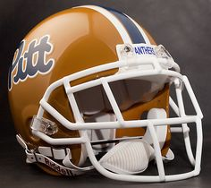 Curtis Martin Pitt Panthers Schutt EGOP Football Helmet Facemask White