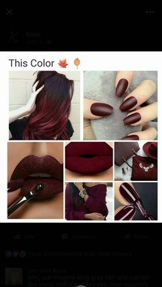 I do love this vampy color... All in matte though please!