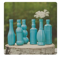 Hey, I found this really awesome Etsy listing at http://www.etsy.com/listing/161411937/6-mini-turquoise-decor-bottles-vases