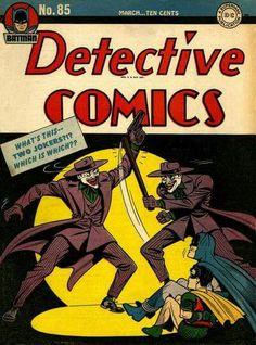 Detective Comics 85 Batman and Joker Comic Cover