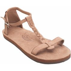 28248b79970 Calafia Single Layer with Back Buckle Heel in Dark Brown by Rainbow Sandals  Flat Sandals