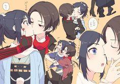 Touken Ranbu/Yamato Nokami Yasusada/Kashuu Kiyomitsu Touken Ranbu Characters, Anime Characters, Manga Art, Anime Manga, I Love Anime, Me Me Me Anime, Kamigami No Asobi, Japanese Anime Series, Ladybug Comics