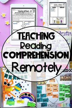 Distance Learning with Reading Comprehension Reading Lessons, Reading Activities, Classroom Activities, Children Activities, Guided Reading, Math Lessons, Classroom Ideas, Online Classroom, Reading Art