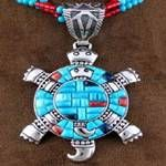 Turtle pendant - silver and turquoise - Southwest Jewelry Native American Beauty, American Indian Art, Native American Jewelry, Native American Indians, I Love Jewelry, Stone Jewelry, Metal Jewelry, Silver Jewelry, Jewelry Art