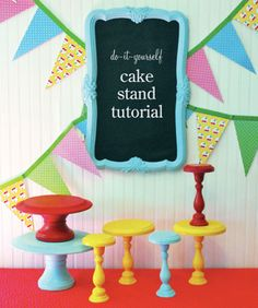 DIY cake stands. I want one that looks like leather and has upholstery tacks along the edges.