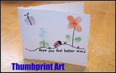 Thumbprint art card ideas (I remember making these when I was a kid)
