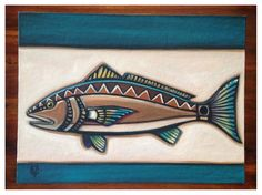 12x16 Redfish original painting by Carin Vaughn by CarinVaughnArt