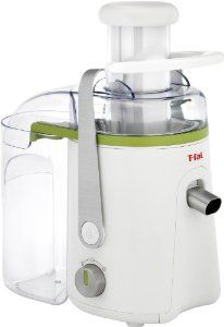 T-fal ZE813US Balanced Living 500-Watt Juice Extractor with Stainless Steel Filter and Dishwasher Safe Juicer Parts, White