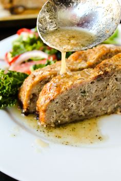 1770 House Meatloaf with Garlic Sauce from @foodcharlatan