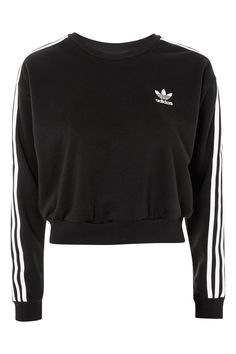 TOPSHOP - 3 Stripe Cropped Sweatshirt by Adidas Originals