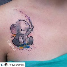 small elephant tattoo - Google Search