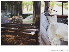 Ponte Vineyard Wedding : Sarah + Ryan. I like that it's different from the regular hanging dress pictures :)