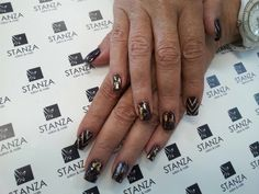 #stanzasalon #nailart #autum #foil #gelish