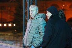 ST PETERSBURG RUSSIA NOVEMBER 19 2016 Russian businessman Roman Abramovich attends the opening of an outdoor ice skating rink on New Holland Island...