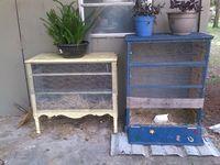 Chicken coop from an old dresser