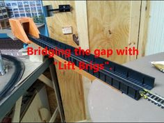 The lift brigs of the Val Valley MRR. When model trains need to cross the walk way, we use lift brigs. Model Railway Track Plans, Ho Model Trains, Ho Scale Trains, Model Train Layouts, Classic Toys, Scale Models, Railroad Tracks, Shelving, Gap