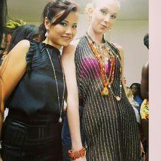 Orange gemstone jewelry is the new black! #fashionweek #Www.samanthacham.com