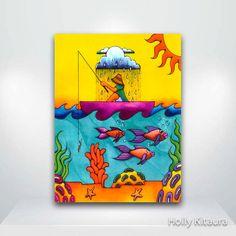 Gone Fishing Fine Art Giclée Print by HollyvisionArt on Etsy