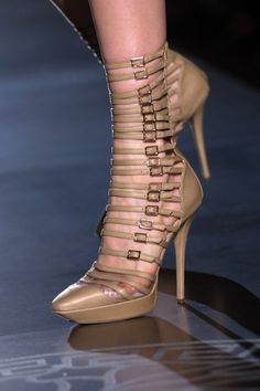 Versace...really into tiny buckles this year