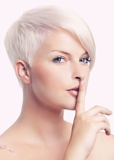 pixie cut short funky hairstyle for women